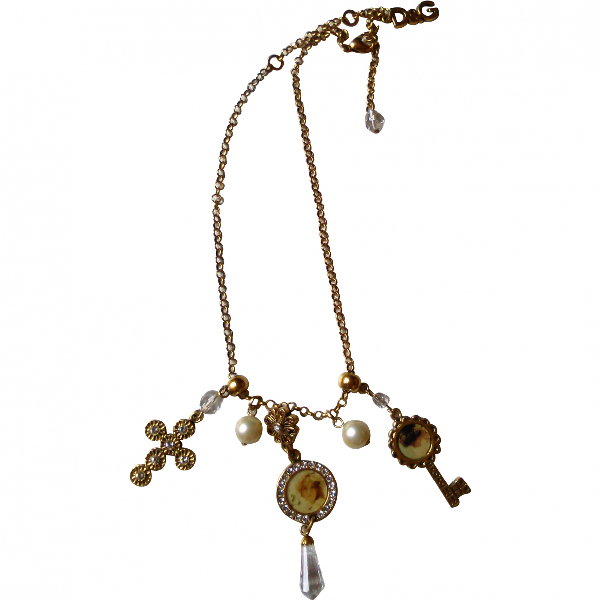 Dolce & Gabbana Gold Metal Necklace