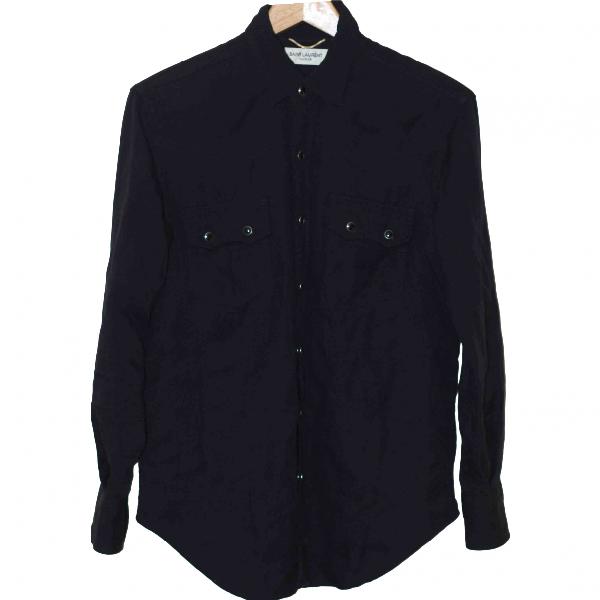 Saint Laurent Black Cotton  Top