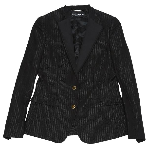 Dolce & Gabbana Black Wool Jacket