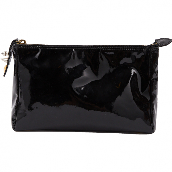 Mulberry Black Patent Leather Clutch Bag