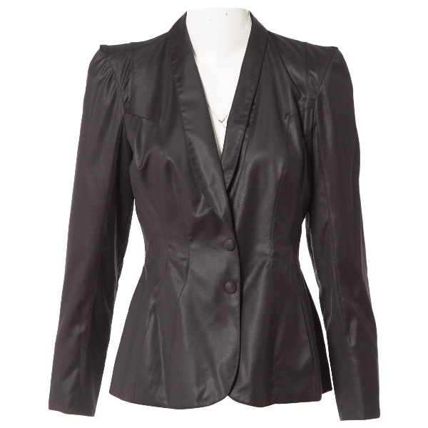 Mugler Black Wool Jacket