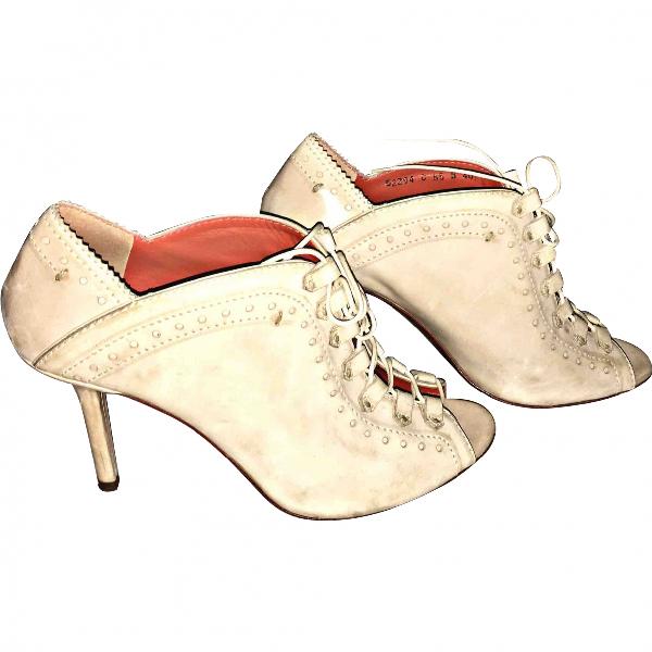 Santoni Beige Leather Heels