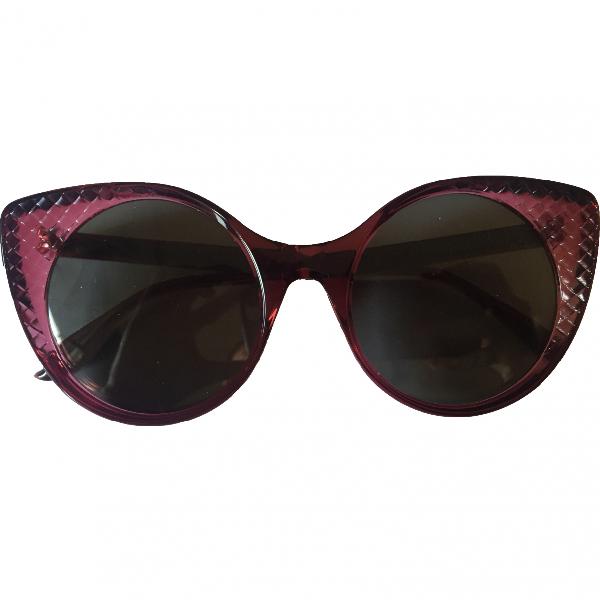 Bottega Veneta Red Sunglasses