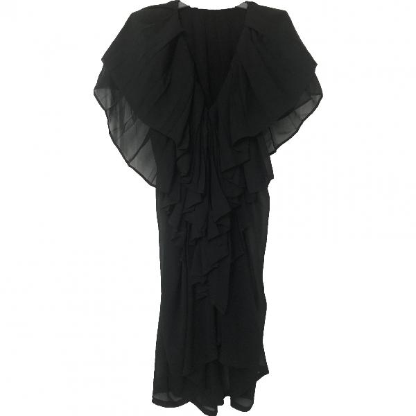Ann Demeulemeester Black Silk Dress