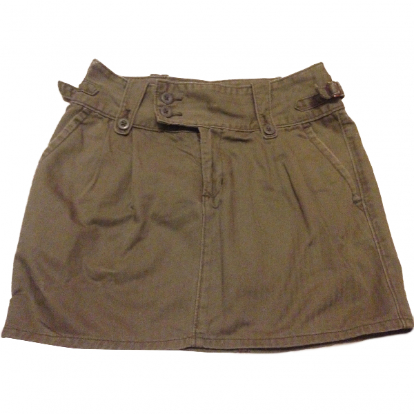 Ralph Lauren Khaki Cotton Skirt