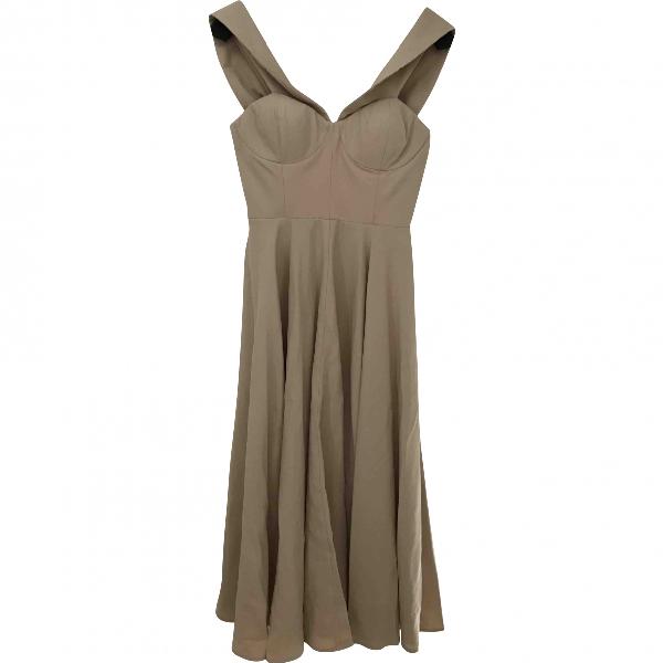 Co Beige Linen Dress