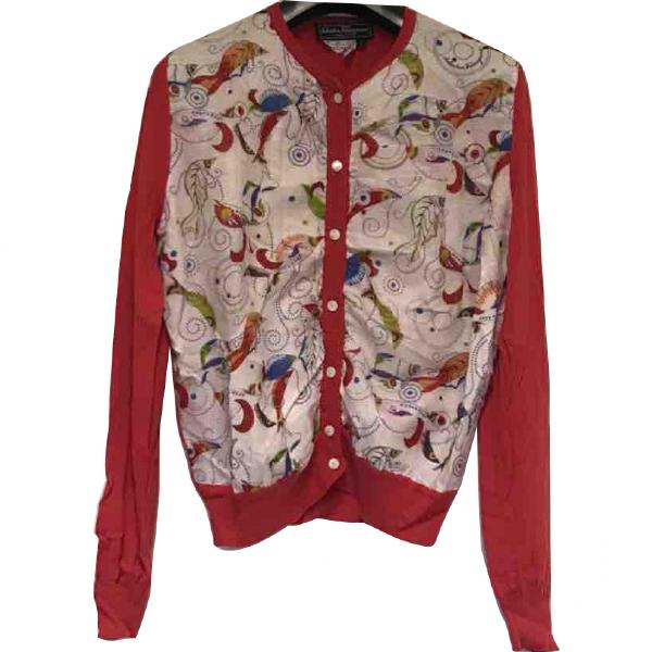 Salvatore Ferragamo Red Silk Knitwear