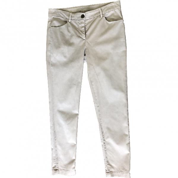 Brunello Cucinelli Beige Cotton Trousers