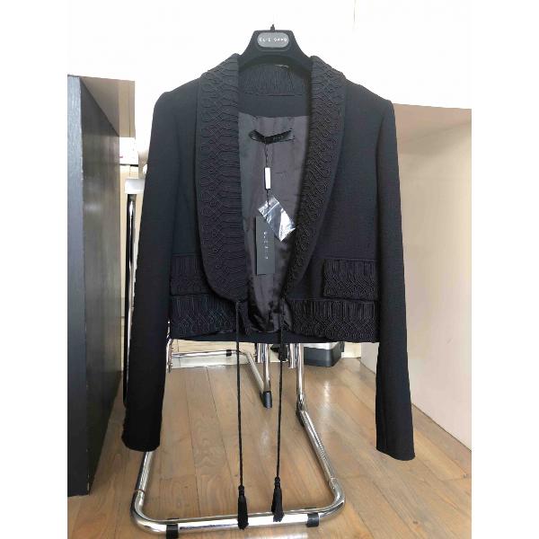 Elie Saab Black Cotton Jacket