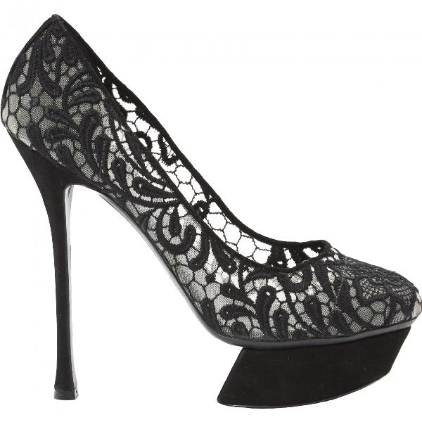 Nicholas Kirkwood Black Cloth Heels