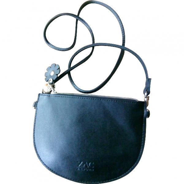 Zac Posen Black Leather Clutch Bag