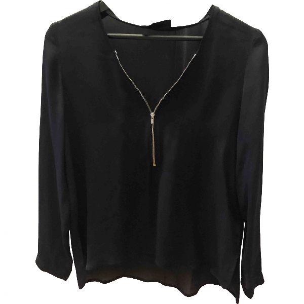 The Kooples Black Silk  Top