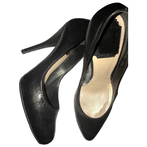 Dior Black Leather Heels