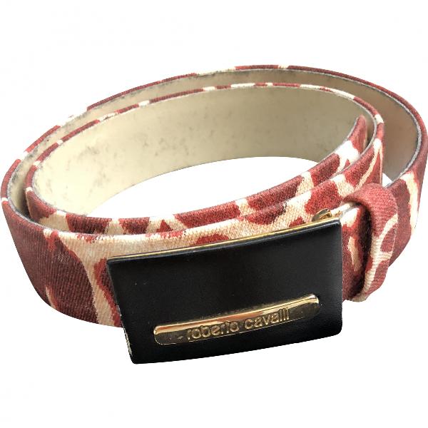 Roberto Cavalli Burgundy Cotton Belt