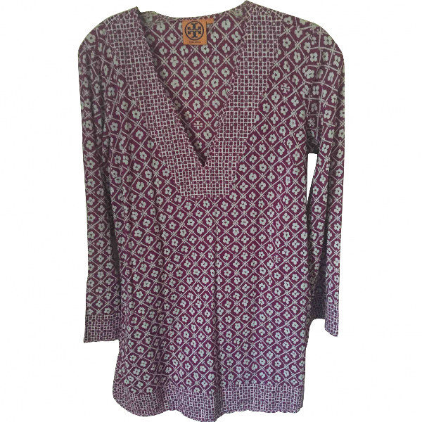 Tory Burch Purple Cotton  Top