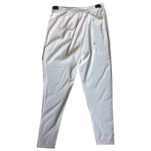 Pinko Ecru Silk Trousers