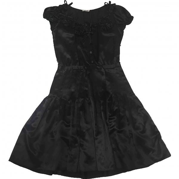 Moschino Cheap And Chic Black Silk Dress