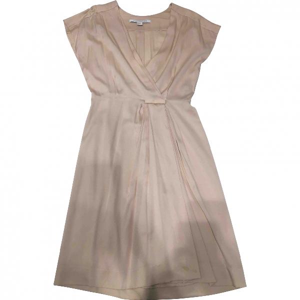 Diane Von Furstenberg Beige Silk Dress