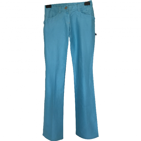 Jean Paul Gaultier Blue Cotton Trousers