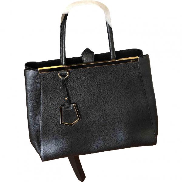 Fendi 3jours Black Leather Handbag