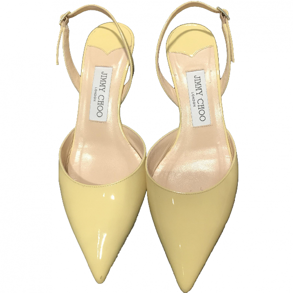 Jimmy Choo Yellow Patent Leather Heels