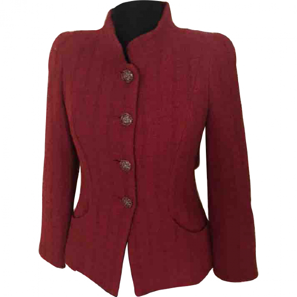 Chanel Red Tweed Jacket