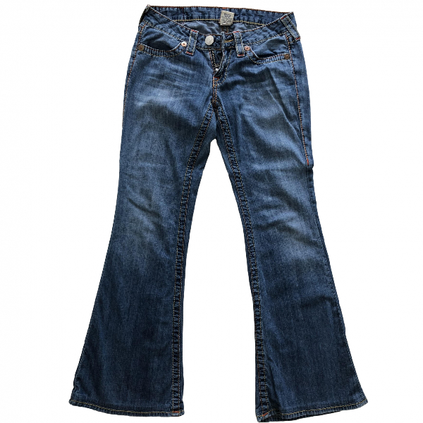 True Religion Blue Cotton Jeans