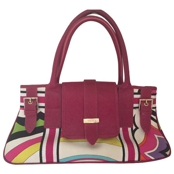Emilio Pucci Pink Cotton Handbag