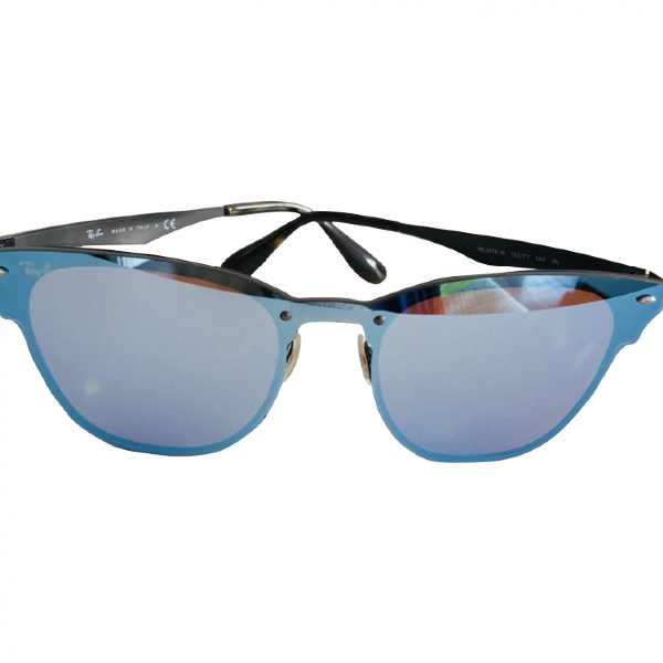 Ray Ban Blue Metal Sunglasses