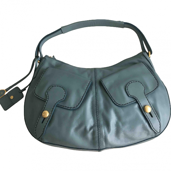 Tod's Blue Leather Handbag