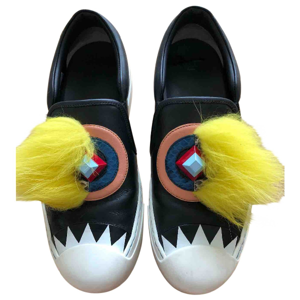 Fendi Multicolour Leather Trainers