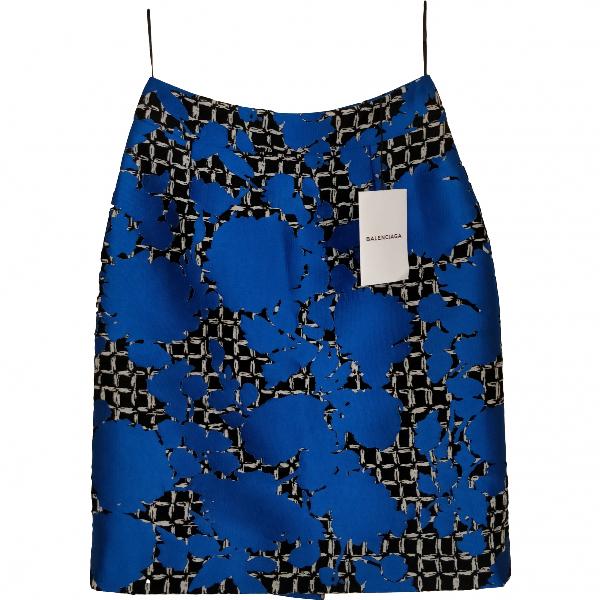 Balenciaga Blue Cotton Skirt