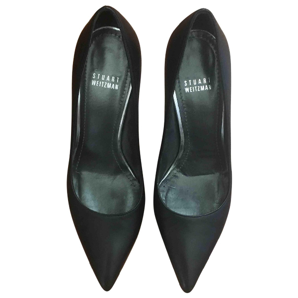 Stuart Weitzman Black Leather Heels