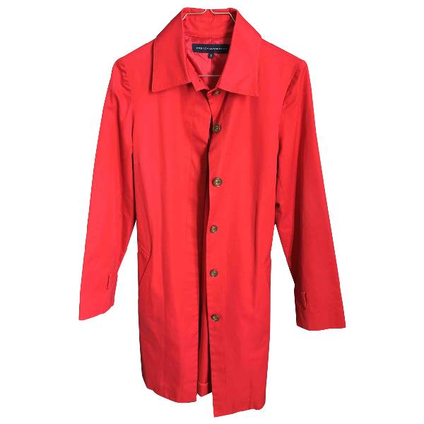 French Connection Red Trench Coat