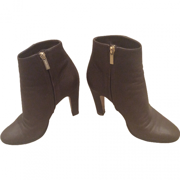 Jimmy Choo Brown Leather Ankle Boots