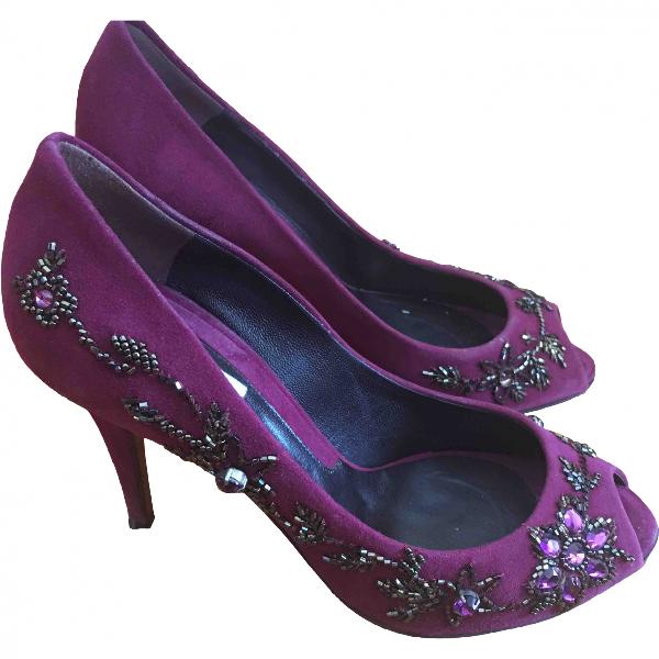 Moschino Purple Suede Heels