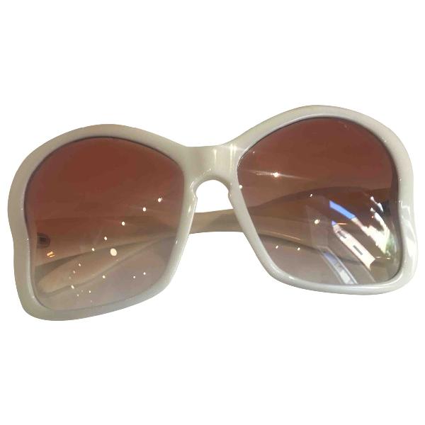 Prada White Sunglasses