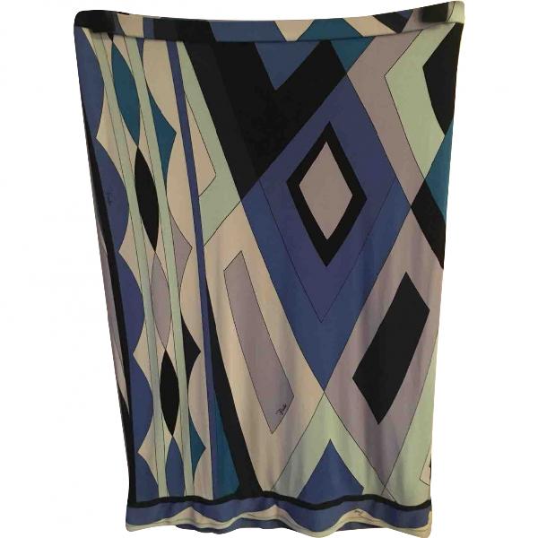 Emilio Pucci Blue Cotton Skirt