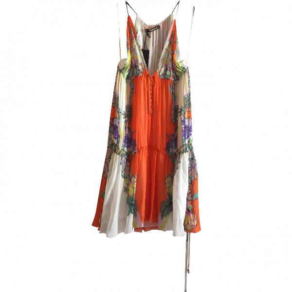 Roberto Cavalli Multicolour Silk Dress