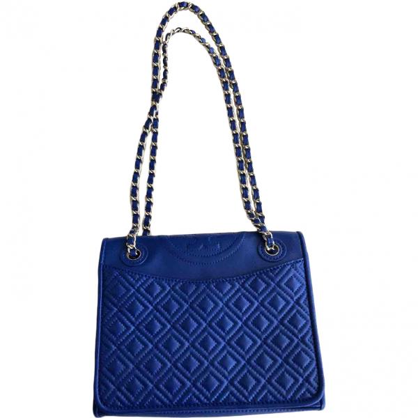 Tory Burch Blue Leather Handbag