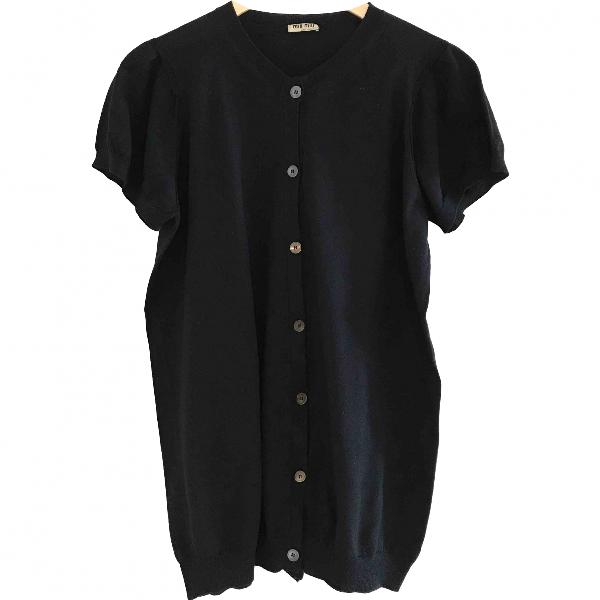 Miu Miu Black Cotton Knitwear