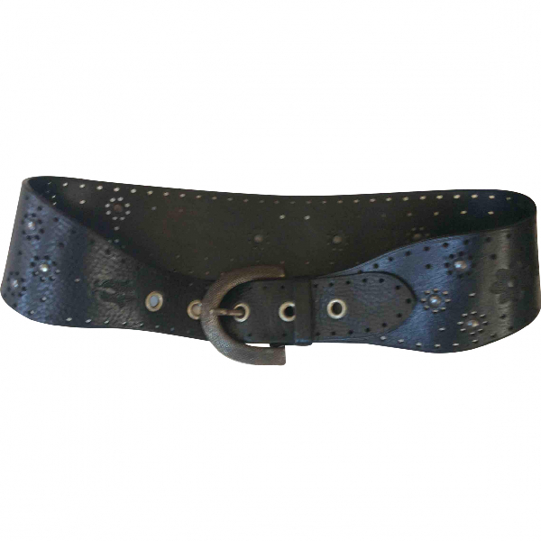 Moschino Cheap And Chic Black Leather Belt