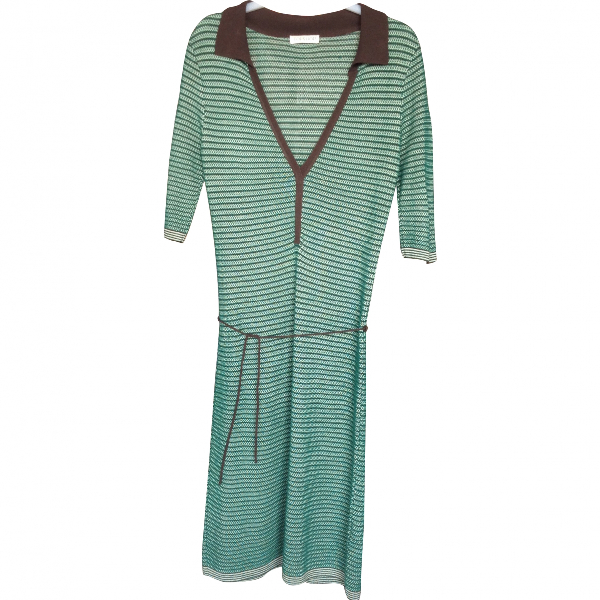 Topshop Tophop  Green Cotton Dress