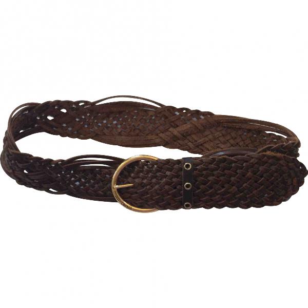 Roberto Cavalli Brown Leather Belt