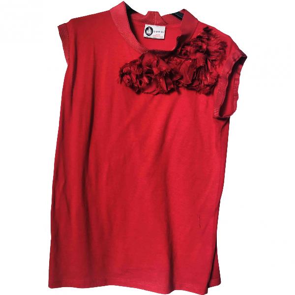 Lanvin Red Cotton  Top