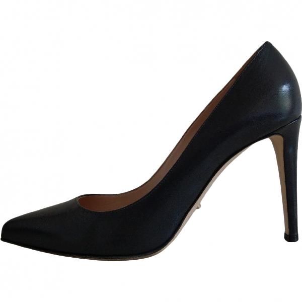 Sergio Rossi Grey Leather Heels