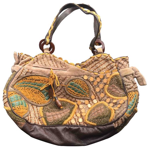 Jamin Puech Khaki Cloth Handbag