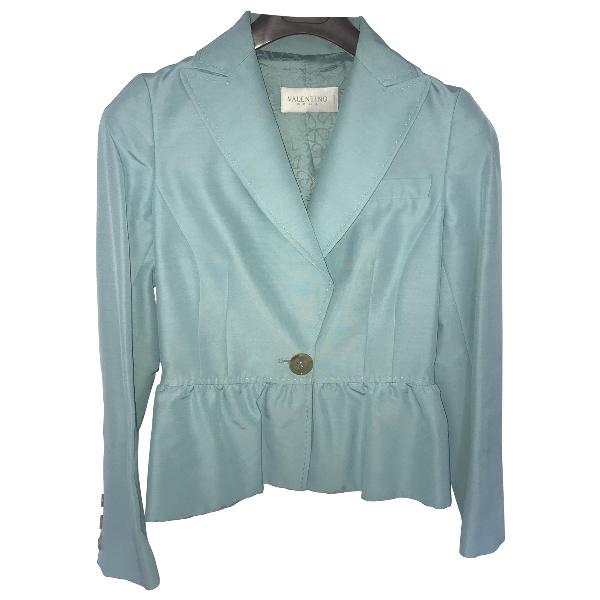 Valentino Turquoise Cotton Jacket