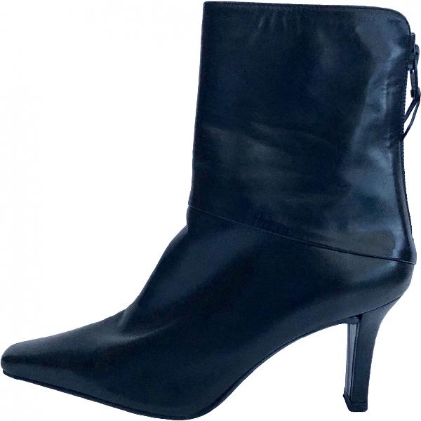 Stuart Weitzman Black Leather Ankle Boots