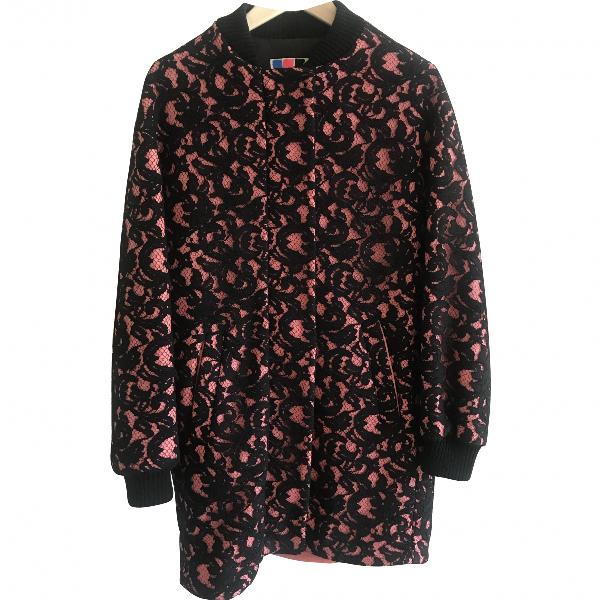 Msgm Multicolour Wool Coat